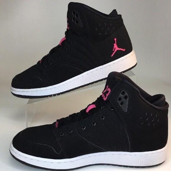 Women s Jordan 1 Flight 5 Premium Nike Black Pink e0f5efba9